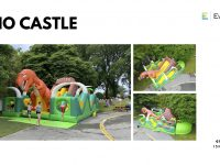 Dino the Dinosaur themed obstacle course castle